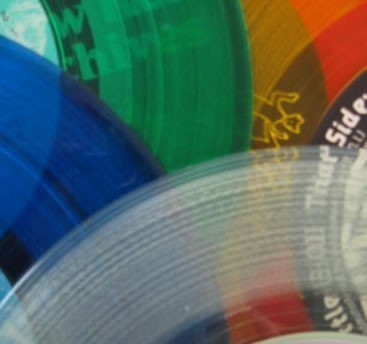 5 Assorted Colored Vinyl Records For Art Projects And Crafts