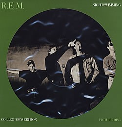 REM - Nightswimming Picture Disc Vinyl Album for art or craft project