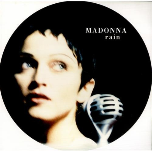 Madonna - Rain - Limited Edition Picture Disc For clock or wall decoration
