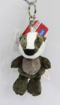 "NICI Badger Grey Animal Plush Stuffed Toy Beanbag Key Chain Keyring Toy 4"" - $12.50"