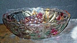 Heavy Etched Cut Glass  Punch Bowl AA20-CD0056 Vintage image 7