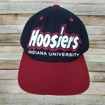 Hoosiers Indiana University Trucker Mesh Hat Cap Snap Back Adjustable Black - $14.85