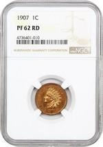 1907 1c NGC PR 62 RD - Indian Cent - $373.45