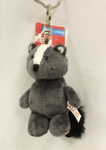 "NICI Skunk Grey Animal Plush Stuffed Soft Toy Beanbag Key Chain Keyring 4"" - $12.50"