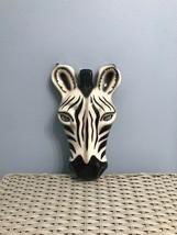 Ceramic Zebra Mask Wall Decor 1987 - $22.50