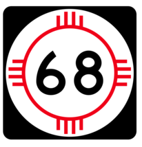 New Mexico State Road 68 Sticker R4133 Highway Sign Road Sign Decal - $1.45+