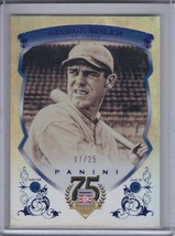 GEORGE SISLER 2014 Panini Hall of Fame Blue Frame Blue #07/25 #13 (C6317) - $5.36