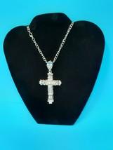 Men's Fashion Jewelry 925 silver color Gemstone Cross pendant - $14.84