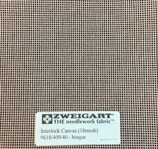 Interlock Needlepoint Canvas 18 Count Bisque Custom Cuts Available Blank Canvas  - $7.13+
