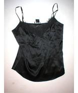 New Designer Natori Camisole Black Tank Small Womens S Top Lace Cami Adj... - $104.00