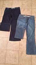Lot 2 Womens Pants size X2 Denim Lab Jean & GAP 10 Regular Black Boot Cut - $25.00