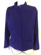 Merona Women Purple Zip Up Jacket Size L 100% Polyester Bin37#12 - $18.70