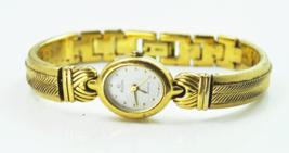 """Women's Elgin Quartz Sparkle Dial Gold Tone Dress Watch 17mm 7"""" Wrist - $7.91"""