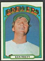 Milwaukee Brewers Ken Brett 1972 Topps Baseball Card #517 - $0.75