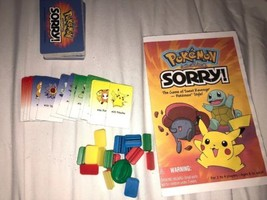 Sorry Pokémon Board Game  Replacement Pieces Cards Instructions - $14.85