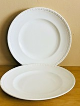 Wedgwood Hedge Rose White Dinner Plate Made in England - $24.75