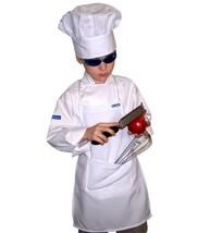 Chefskin Children Apron White, Pocket, Fabric, Fits 2-8 10, White - $29.01