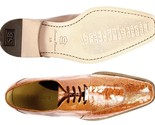 Belvedere New Exotic Siena Dressy Genuine Ostrich Lace Up Burned Amber 1463 - €385,47 EUR