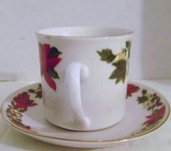 Gibson Poinsettia Cup & Saucer - $6.00