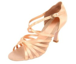 "Capezio Tatiana 2.5"" Heel Ballroom Dance Shoe 10 Medium Antique Silk NIB... - $53.66"