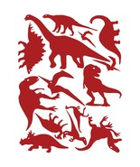 LiteMark Red Removable Assorted Dinosaur Decals - Pack of 42 - $19.95
