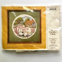Bless This House O Lord We Pray Cross Stitch Kit Creative Circle 0616 Cottage  - $9.89
