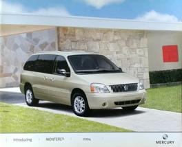 2004 Mercury MONTEREY sales brochure catalog 1st Edition US 04 Premier - $8.00
