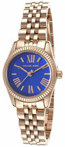 NWT Michael Kors MK3272 Petite Lexington Blue Dial Rose Gold Tone Women'... - $109.99