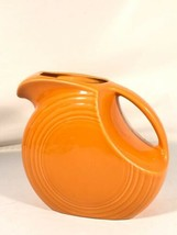 Fiesta Disc Pitcher Vintage Orange Made In USA - $89.09
