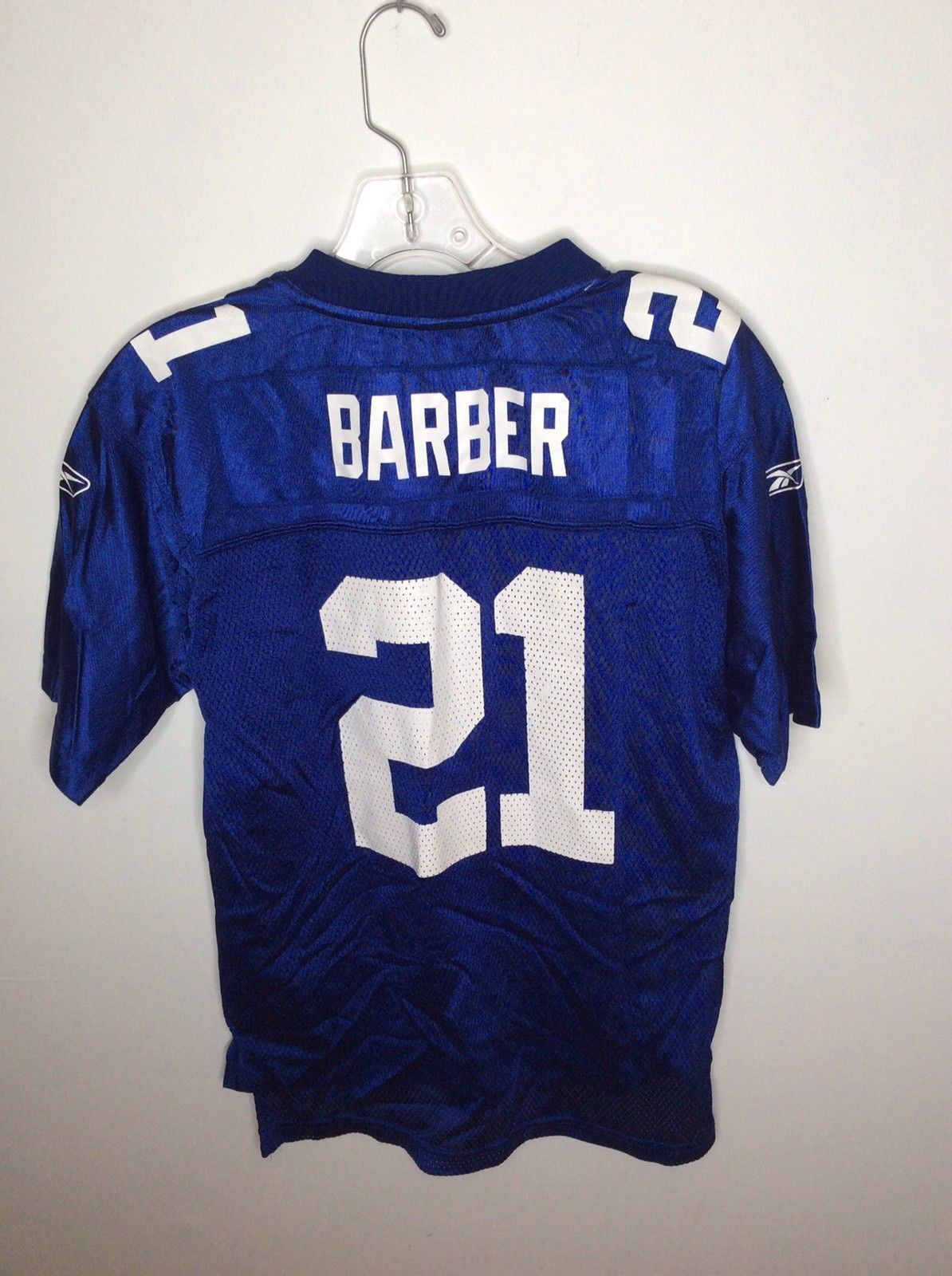 Reebok NFL New York Giants 21 Tiki Barber Football Jersey Blue Youth Large 14-16 image 2