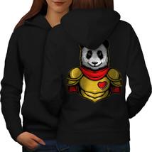 Hero Panda Sweatshirt Hoody Cute Animal Women Hoodie Back - $21.99+
