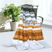 Onitiva - [Stripes - City Elf] Patchwork Throw Blanket - $49.99