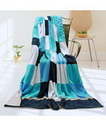 Onitiva - [Plaids - Coral Sea] Patchwork Throw Blanket - $66.27 CAD