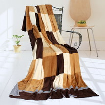 Onitiva - [Plaids - Naturally Chic] Patchwork Throw Blanket - $49.99