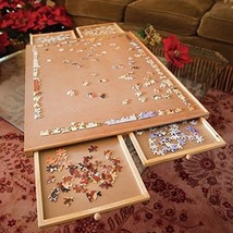 Bits and Pieces - Standard Size Wooden Puzzle Plateau-Smooth Fiberboard ... - $87.22