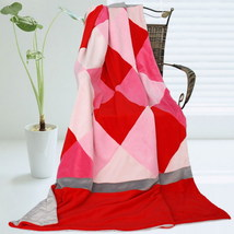 Onitiva - [Plaids - Rose Elf] Patchwork Throw Blanket - $49.99
