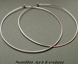 2 inch Hoops Earrings. 14k Gold Filled Hoops - $36.00