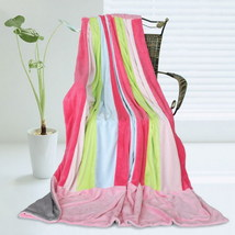 Onitiva - [Pink Colour] Patchwork Throw Blanket - $49.99