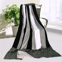 Onitiva - [Dove Gray] Patchwork Throw Blanket - $49.99