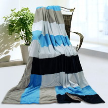 Onitiva - [Love is blue] Patchwork Throw Blanket - $49.99