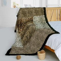Onitiva - [Leopard Art] Animal Style Patchwork Blanket - $79.99