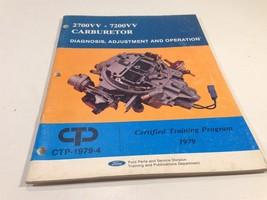 1979 Ford 2700VV 7200VV Carburetor Diagnosis Adjustment Operation CTP-1979-4 - $14.99