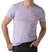 NEW NWT LACOSTE MEN'S SPORT ATHLETIC COTTON V-NECK SHIRT T-SHIRT IRIS TH6604