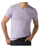 NEW NWT LACOSTE MEN'S SPORT ATHLETIC COTTON V-NECK SHIRT T-SHIRT IRIS TH... - $37.61+