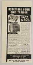 1949 Print Ad Cub Sportster & Senior Trailers National Stores Los Angele... - $9.03