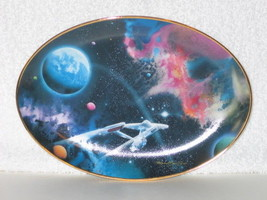Star Trek Final Frontier Series 2nd Star From The Right Ceramic Plate 1996 COA - $24.18