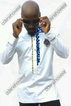 Odeneho Wear Men's Polished Cotton Top/Embroidery And Kente. African Clothing. - $79.19+