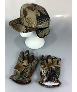 Camo Cap & Gloves Combo Tuck Away Ear Flaps 1 Size Hunting Camouflage  - $24.50