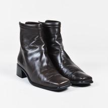 Stuart Weitzman Brown Leather Heeled Platform Ankle Boots SZ 7 - $235.00