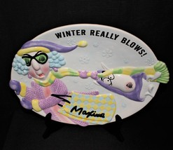 "Hallmark Maxine and Floyd ""Winter Really Blows"" Ceramic 14"" Cookie Platter - $14.00"